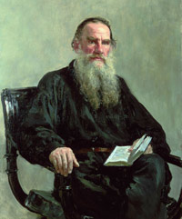 Tolstoy's portrait by Repin