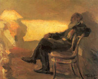 Tolstoy's portrait (by Pasternak, 1901)